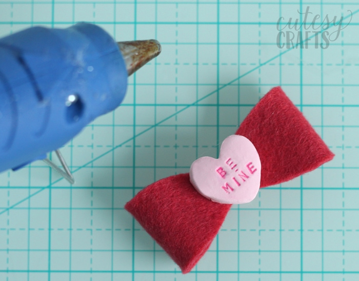 Clay Conversation Heart DIY Hair Bows