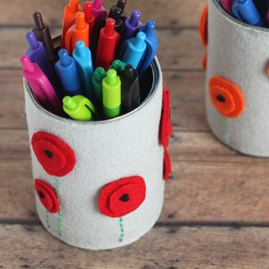DIY Pencil Holder and School Supplies for Teachers