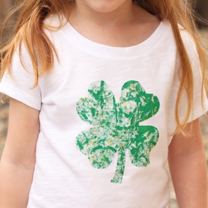 marble painted st patricks day shirt