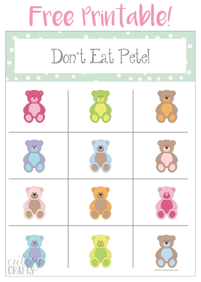"Free ""Don't Eat Pete!"" Printable Game"