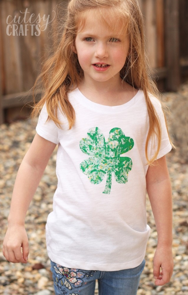 Marble Painted DIY St. Patrick's Day Shirt