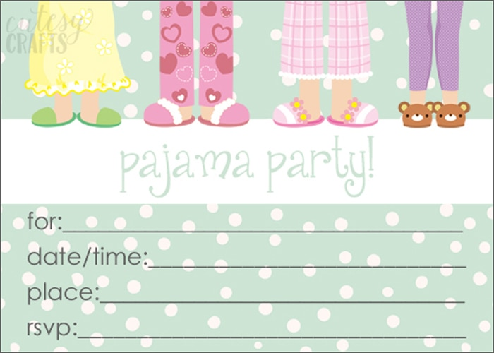 Milk and Cereal Pajama Party Cutesy Crafts – Pajama Party Invites