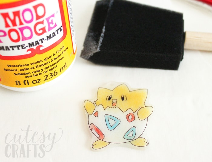 Pokemon Birthday Party Craft - Turn coloring pages into keychains with Shrink Film!
