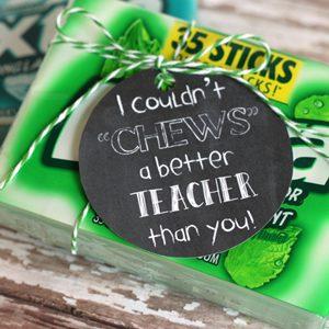 Gum Gift Tag Printables