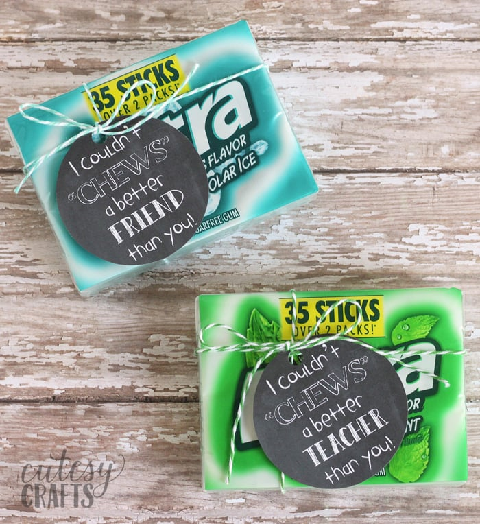 Gum Gift Tag Printables #GiveExtraGetExtra #Target #ad