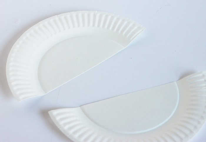 paper plate cut in half