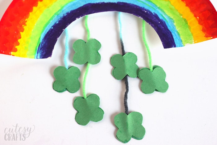 Paper Plate Rainbow St. Patrick's Day Craft Clovers