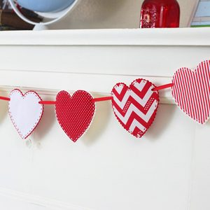 Valentine Craft Idea – Fabric Heart Garland