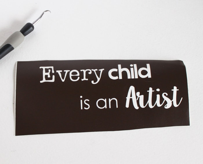 every child is an artist stencil