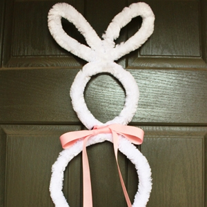 Giant Pipe Cleaner Bunny Easter Craft