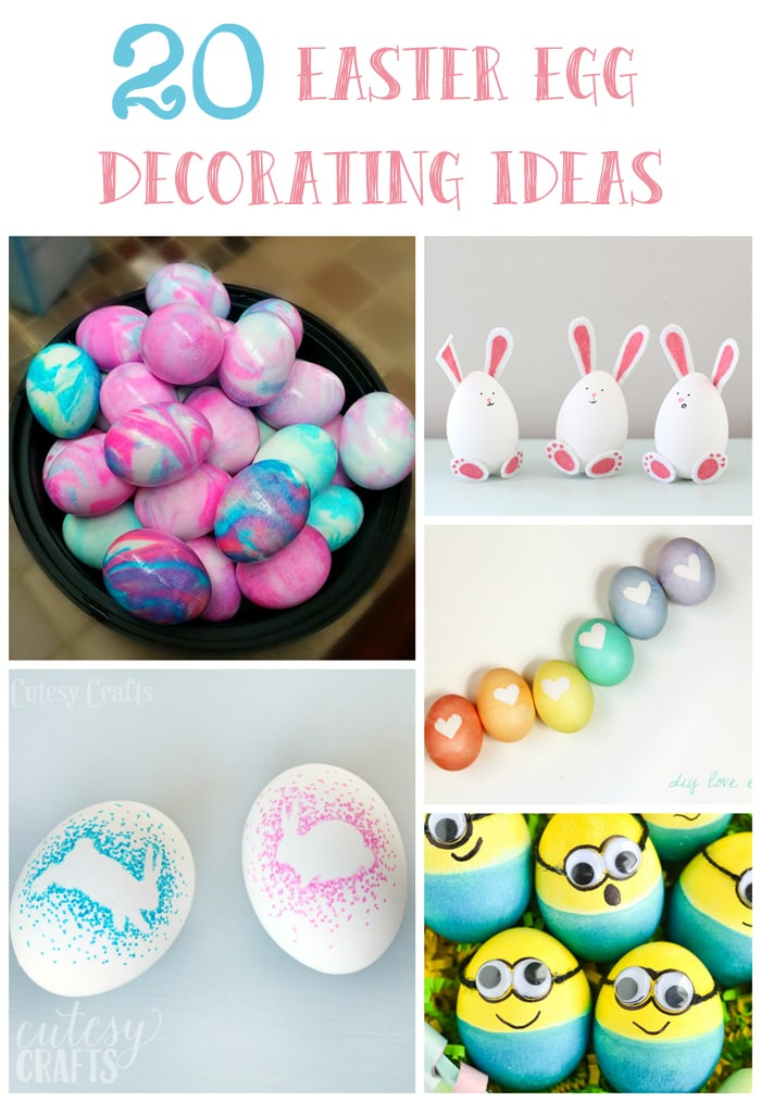 20 easter egg decorating ideas cutesy crafts for Easter egg ideas