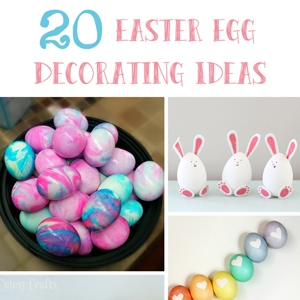20 easter egg decorating ideas cutesy crafts - Easter Decorating Ideas