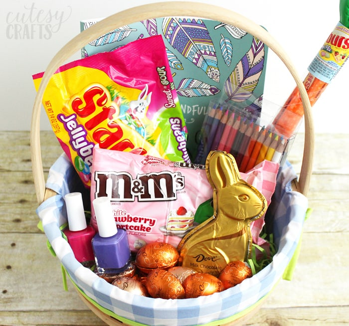 Easter basket for mom with printable easter tags cutesy crafts easter basket for mom with printable easter tags negle