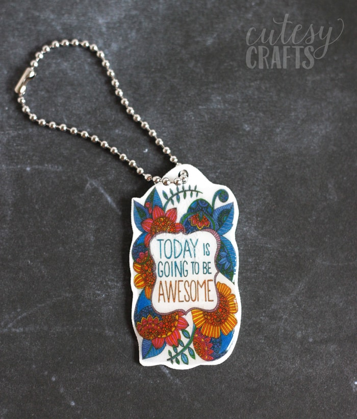 Adult Coloring Page Keychains