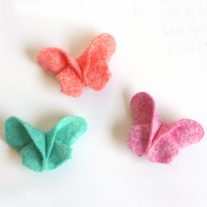 DIY Felt Origami Butterfly Hair Clips