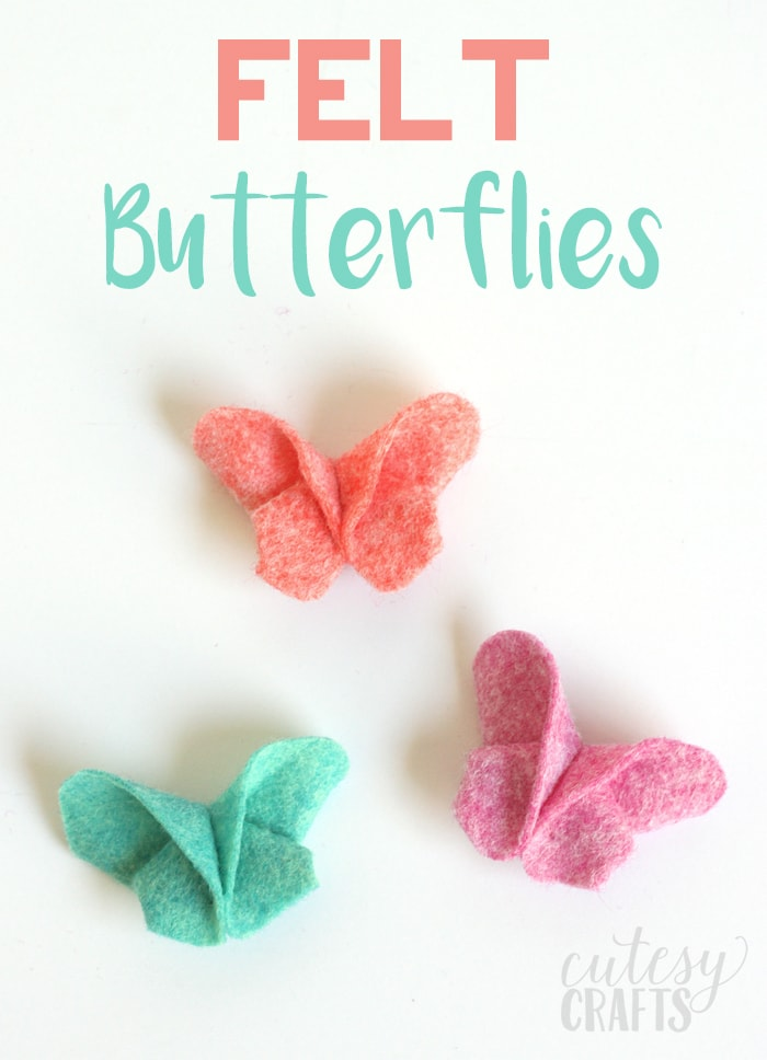 diy felt origami butterfly hair cutesy crafts