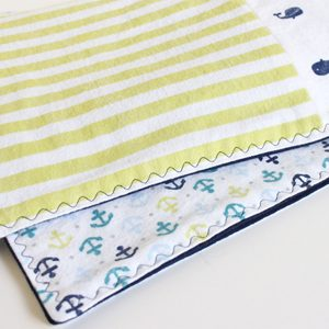 Easy Baby Quilt from Receiving Blankets