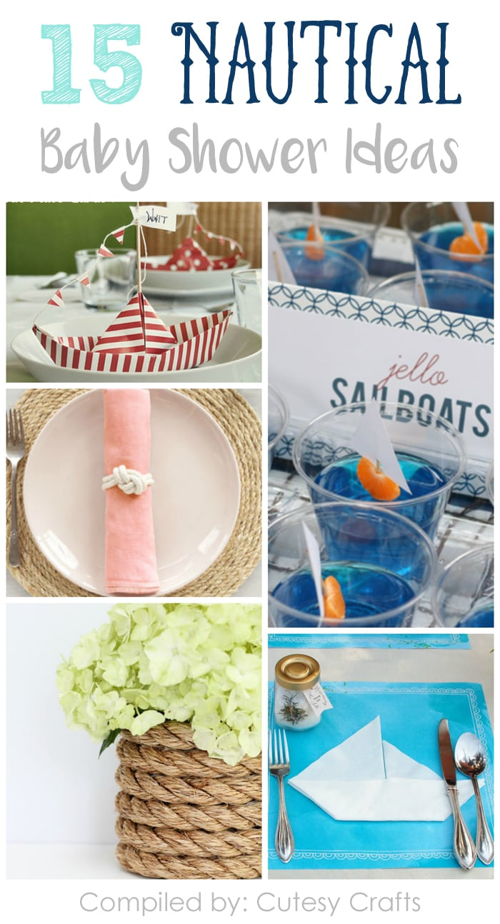 15 nautical baby shower ideas cutesy crafts for Nautical projects
