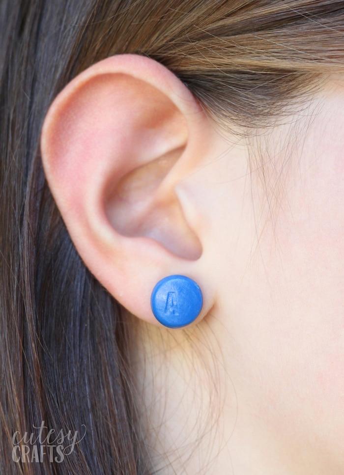 Clay Nintendo Button DIY Earrings