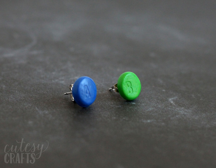 Clay Nintendo Button DIY Earrings