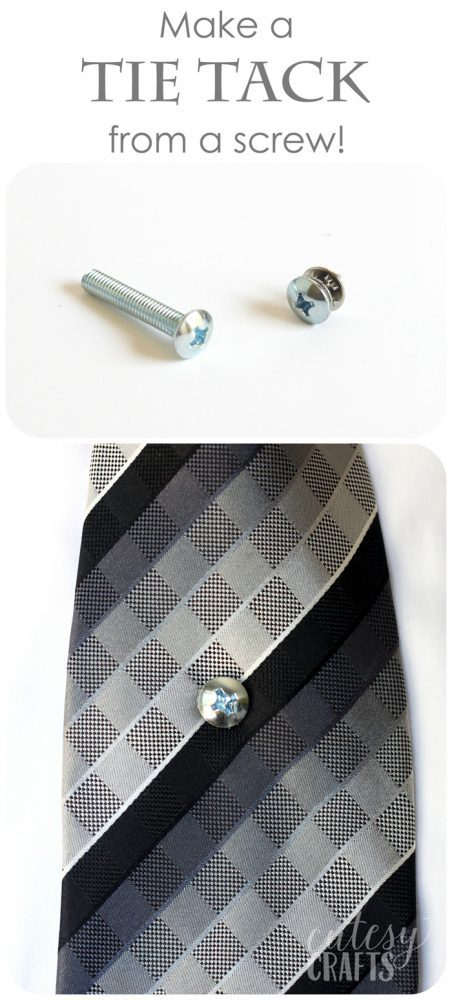 Father's Day Craft - Tie Tack from a Screw