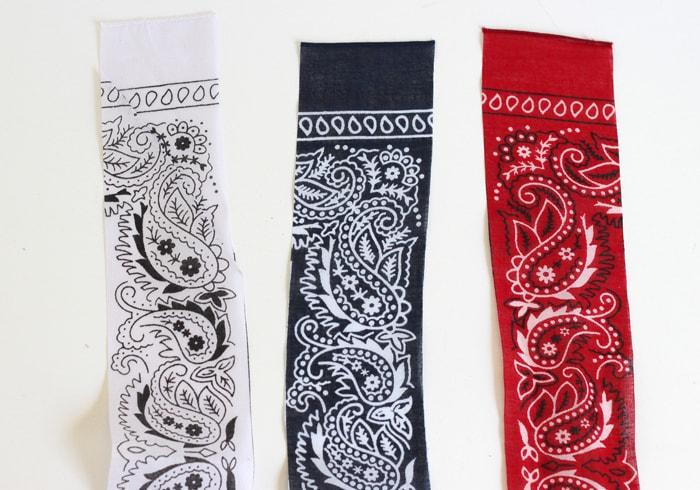 Fantastic Red, White and Blue Bandana Headband - Cutesy Crafts ZQ67