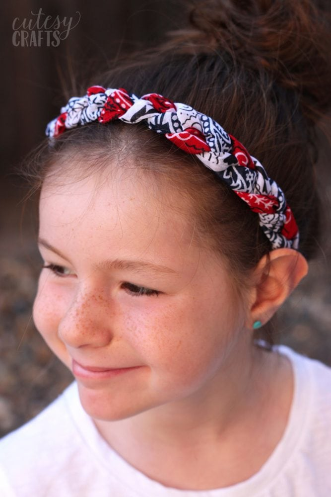 Red, White and Blue Bandana Headband Tutorial