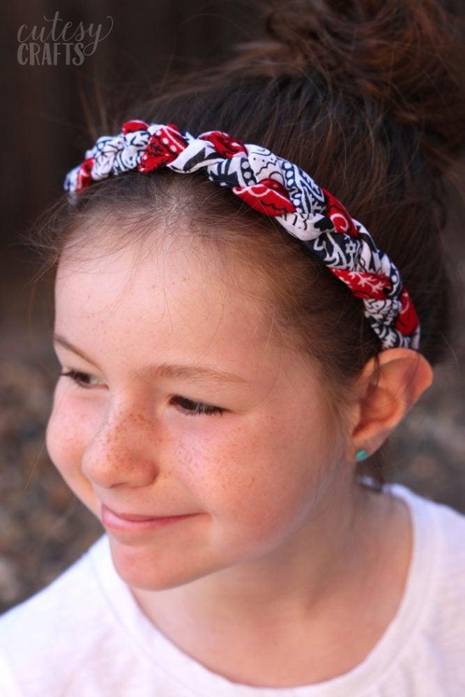 Red White And Blue Bandana Headband Cutesy Crafts