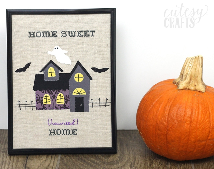 Free Pattern! - Haunted House Halloween Embroidery