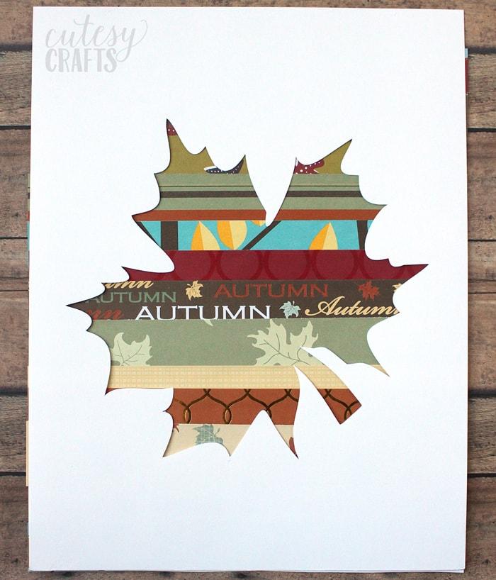 Easy Fall Craft - Scrapbook Paper Leaf