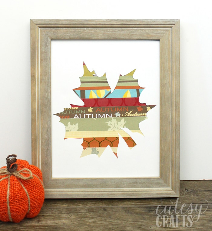 Easy Fall Craft - Scrapbook Paper Leaf
