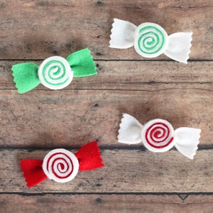 Felt Peppermint Swirl Hair Bow Tutorial