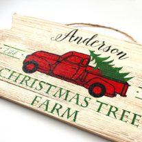 DIY Custom Christmas Tree Farm Sign