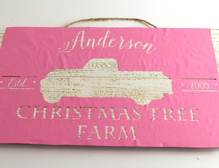 DIY Custom Christmas Tree Farm Sign Decoration