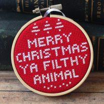 Home Alone Cross Stitch Ornament