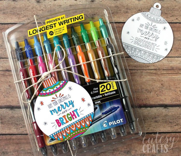 Free Printable Coloring Page Gift Tags