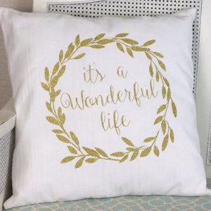 """""""It's a Wonderful Life"""" Pillow and a GIVEAWAY!"""