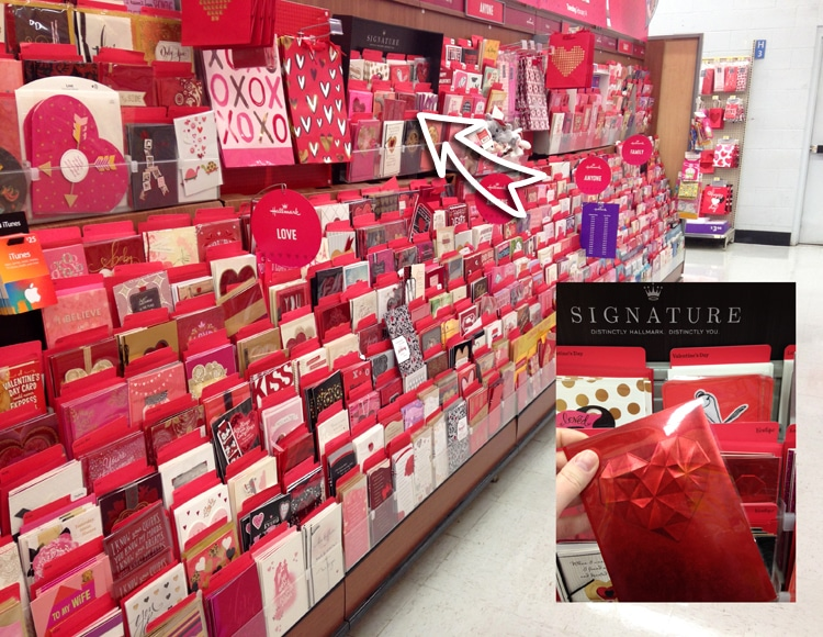 Hallmark Valentine's Day cards at Walmart