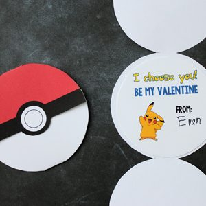 Free Printable Pokemon Valentines for Kids