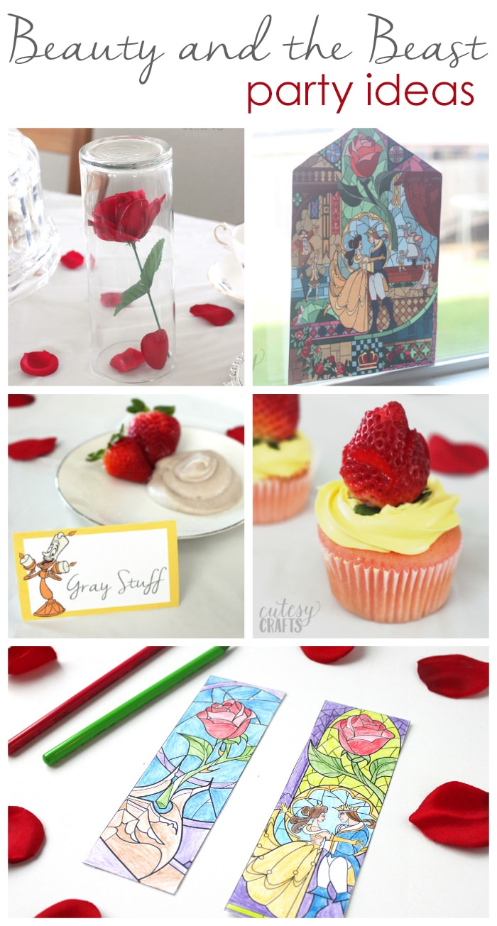Miraculous Easy Beauty And The Beast Party Ideas Cutesy Crafts Download Free Architecture Designs Scobabritishbridgeorg
