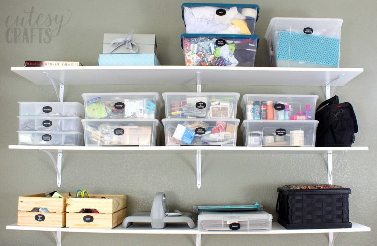 Inexpensive Craft Room Ideas - Shelving