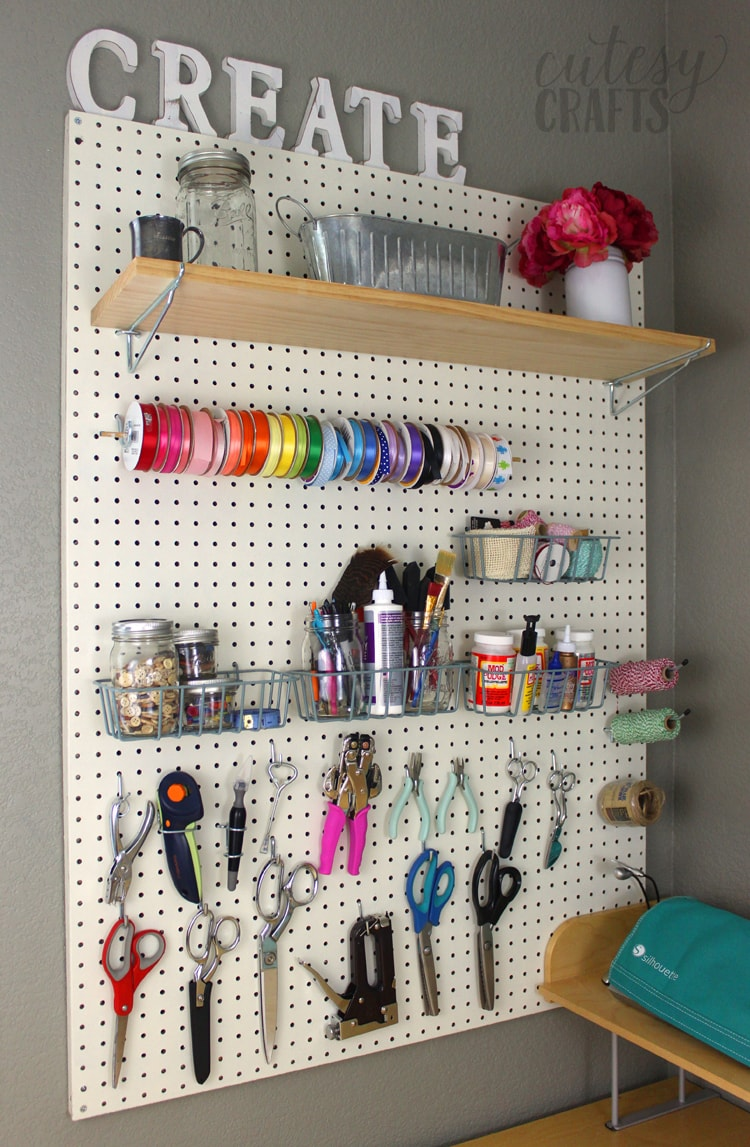 Inexpensive Craft Room Ideas - Pegboard