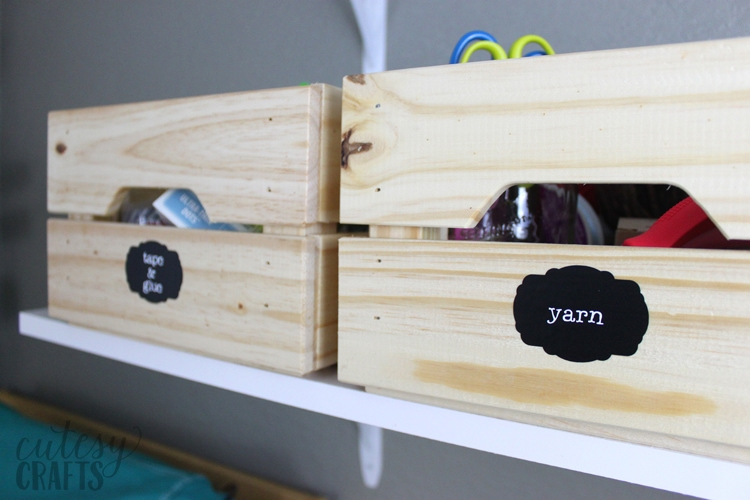 Inexpensive Craft Room Ideas - Labels