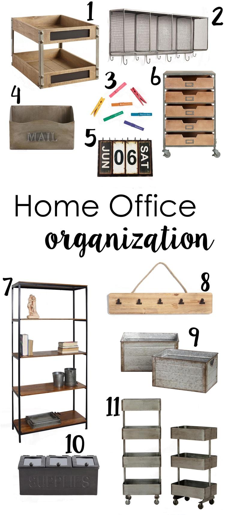 Home Office Organization Ideas - Cutesy Crafts