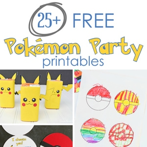 picture about Free Printable Pokemon called 25+ Free of charge Pokemon Get together Printables - Cutesy Crafts
