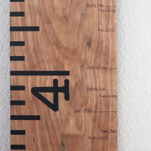 How to Mark Height on a Ruler Growth Chart