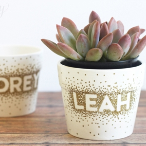 Sharpie Dot DIY Flower Pots