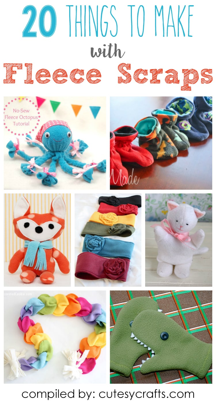 20 Adorable Things To Make With Fleece Scraps Cutesy Crafts