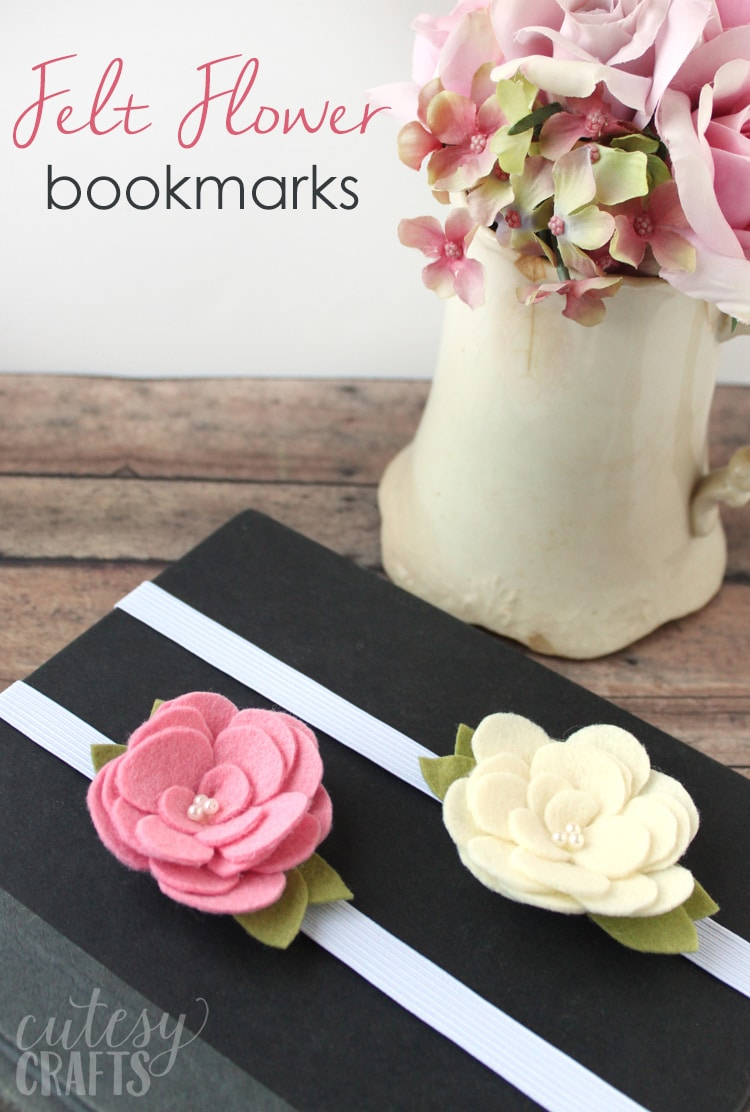 Bookmarks from Felt Flowers