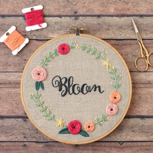 Bloom Hand Embroidery Pattern